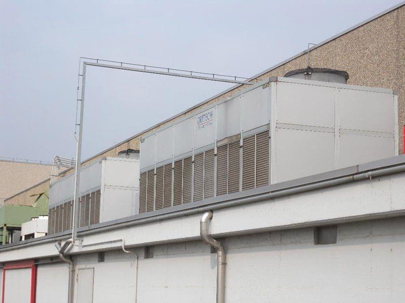 impianto di condizionamento in opera