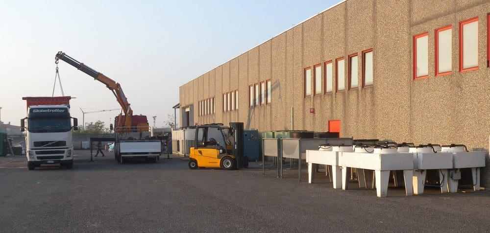 impianto di condizionamento pronto al carico