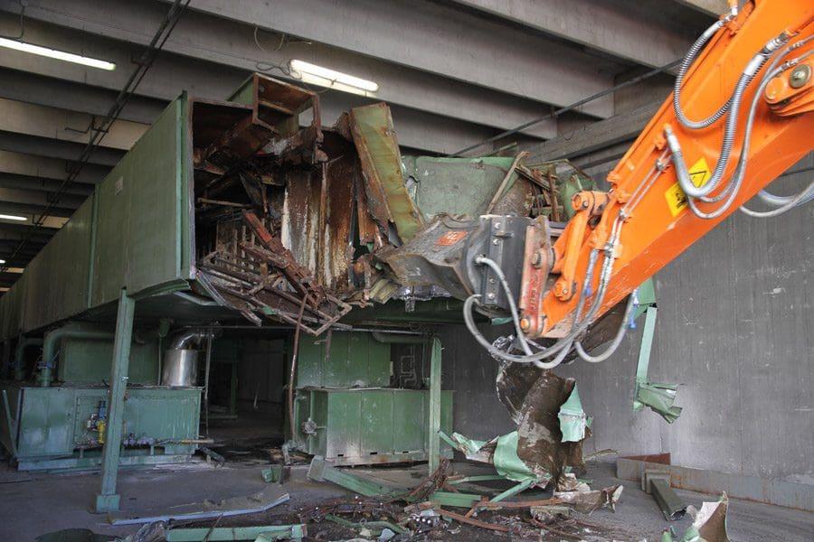 demolizione impianto