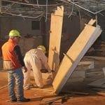 Durante le demolizioni interne