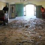 Demolizione pavimenti e sgombero macerie