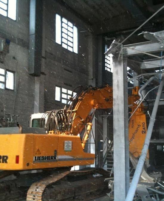 Demolizione impianti industriali