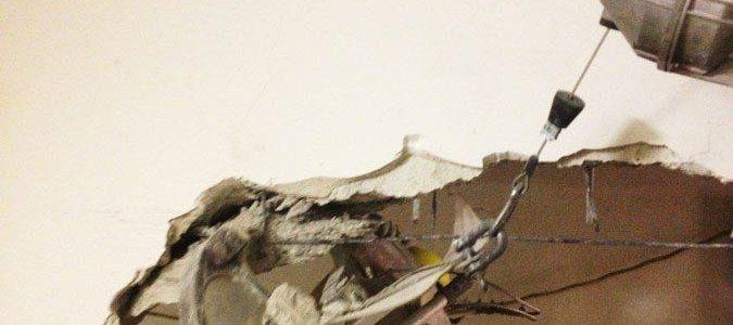 demolizione delle murature in cemento armato