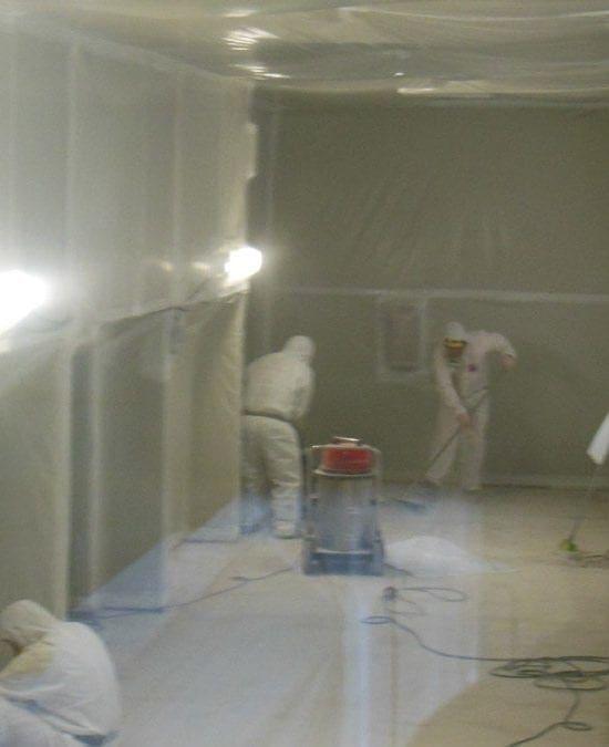 Bonifica delle pavimentazioni in vinil amianto in complessi scolastici