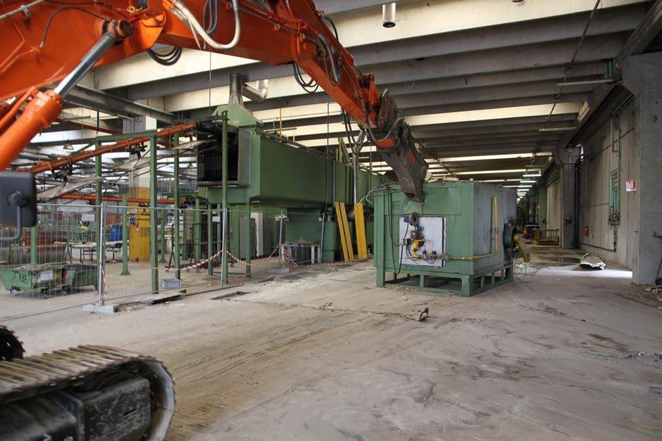 Terminata demolizione impianto industriale