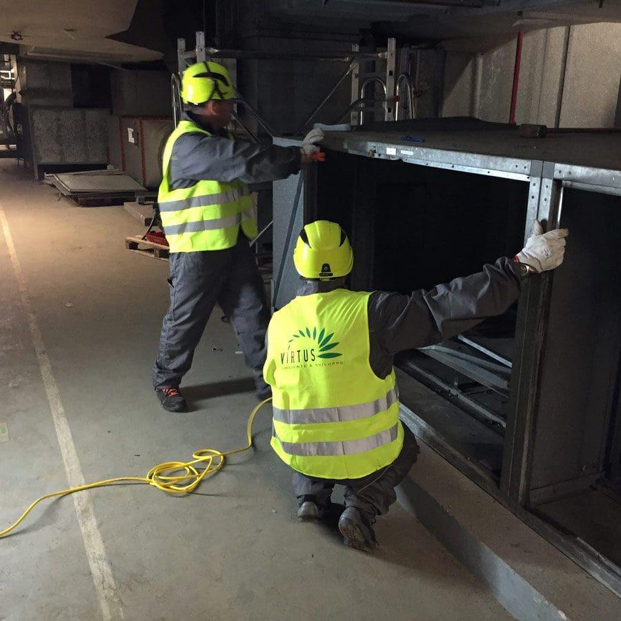 Demolizione impianti trattamento aria Inghilterra