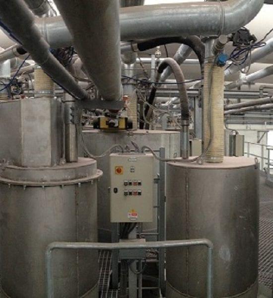 Smontaggio impianto di dosatura polveri