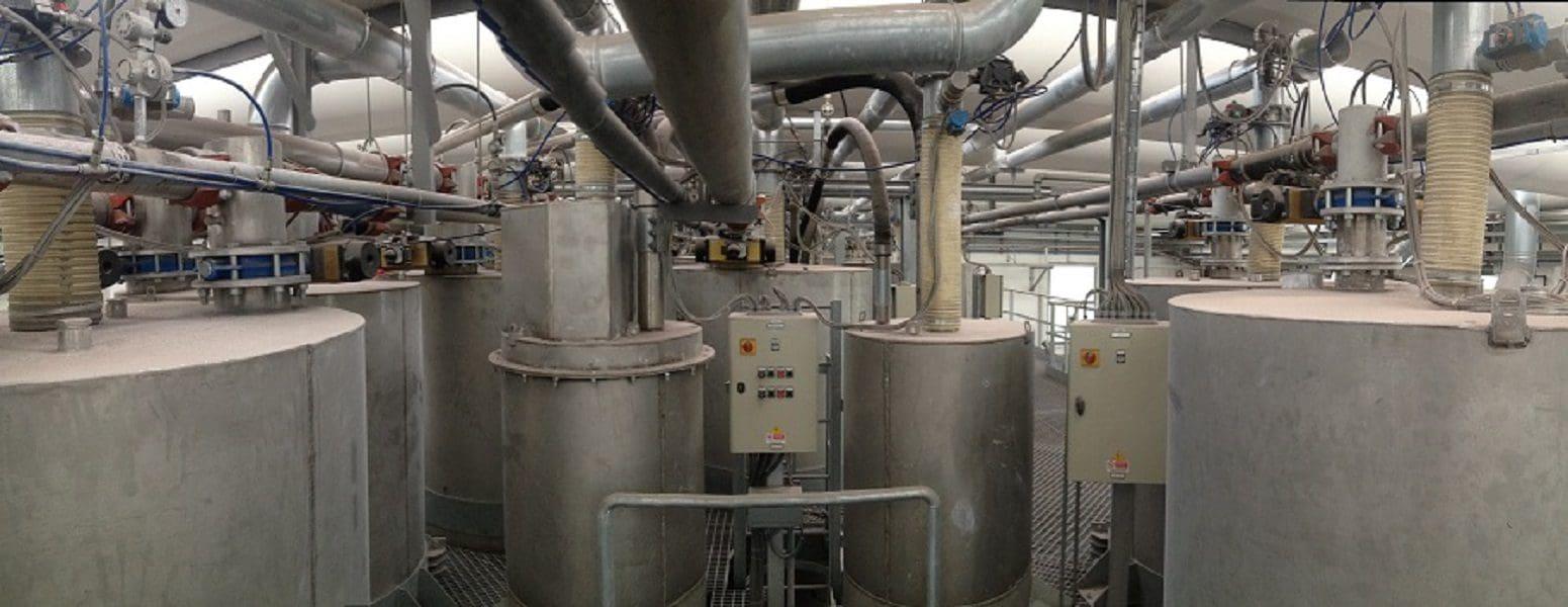 Smontaggio impianto di dosatura polveri - Virtus Srl