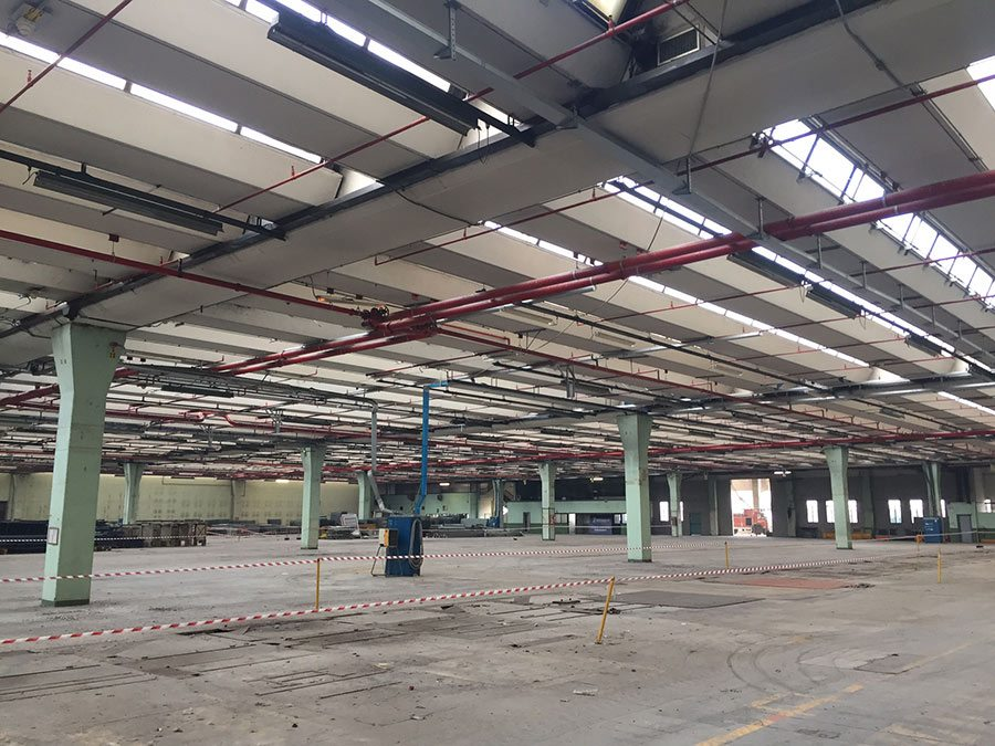 Strip out impiantistico multinazionale chimico - farmaceutica Cremona - Virtus Srl