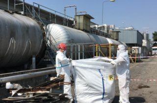 Dismissione reparto stoccaggio materie prime azienda chimica settore automotive 2018